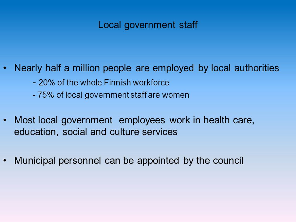 Local government staff