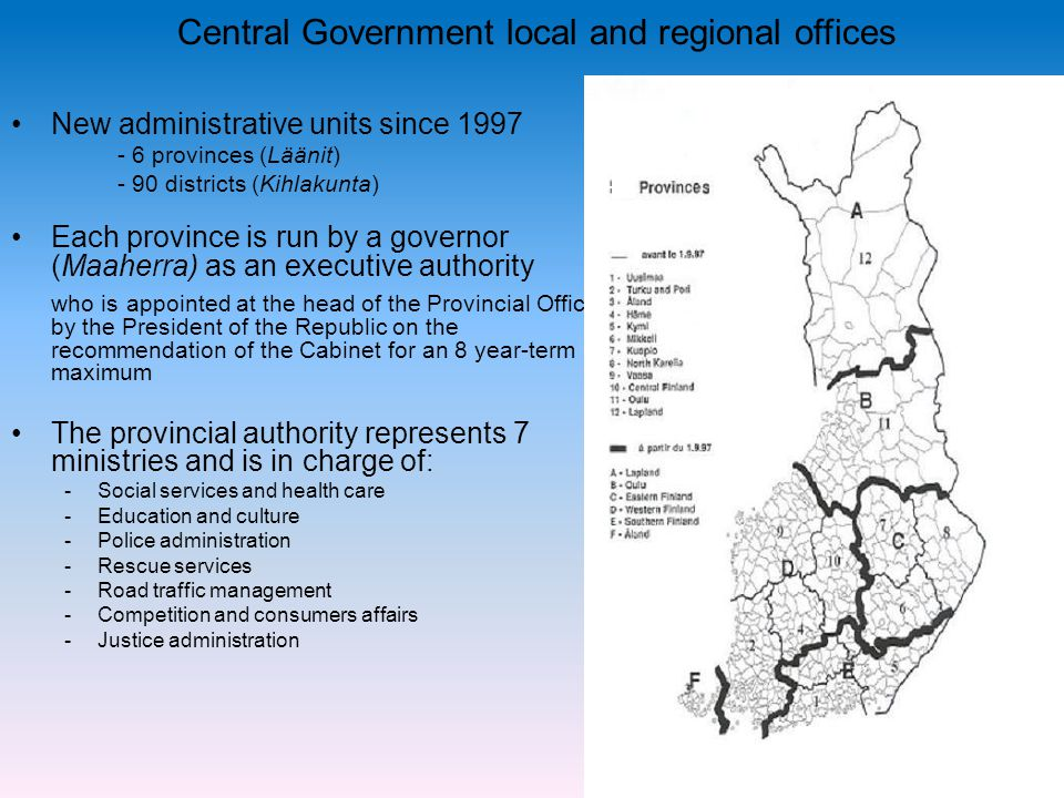 Central Government local and regional offices