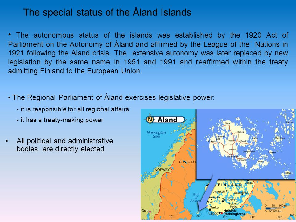 The special status of the Åland Islands