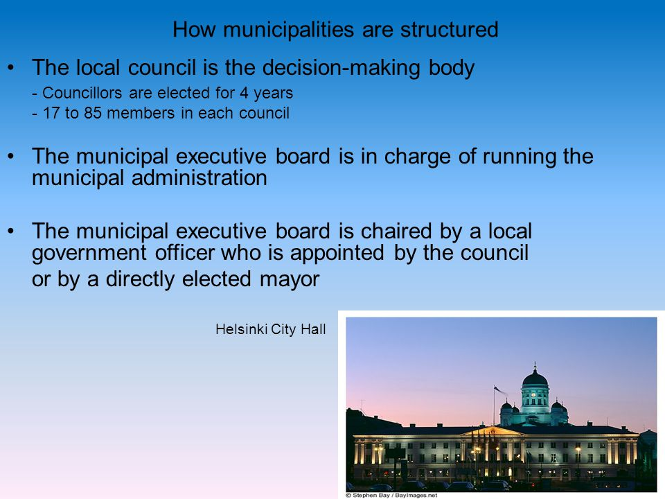 How municipalities are structured