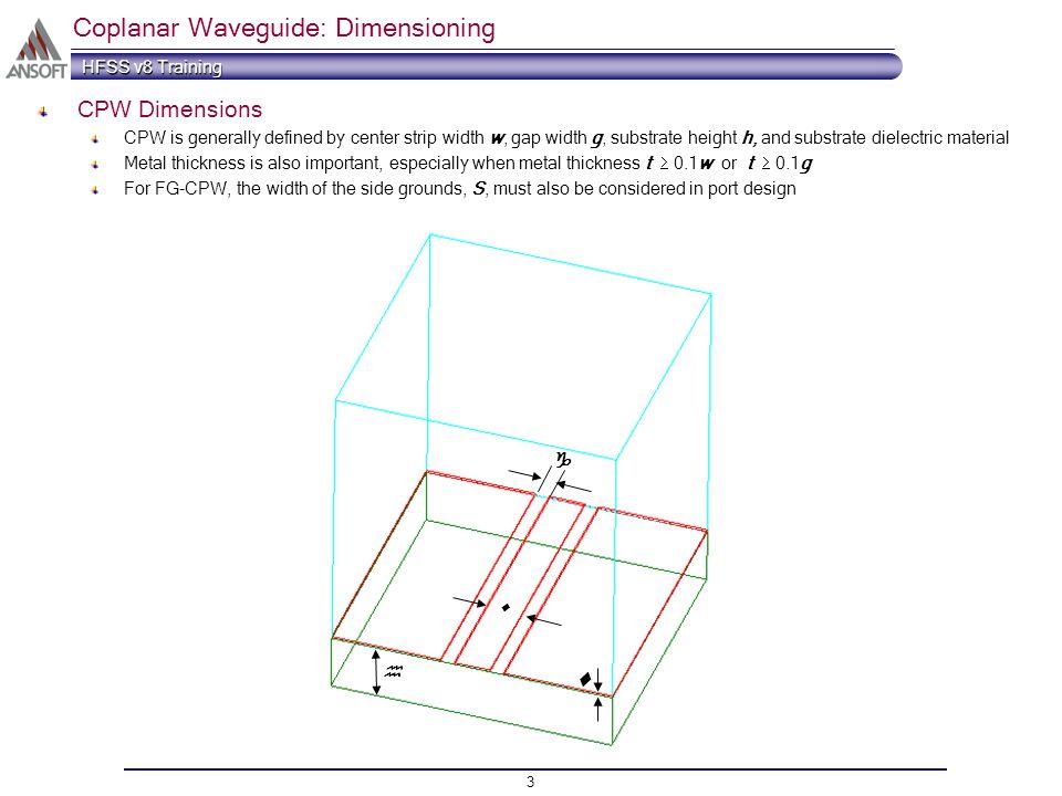 port tutorial series coplanar waveguide cpw ppt video online rh slideplayer com Generative Design coplanar waveguide simulation in hfss