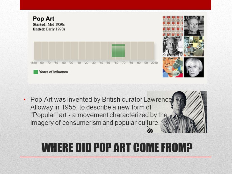 WHERE DID POP ART COME FROM