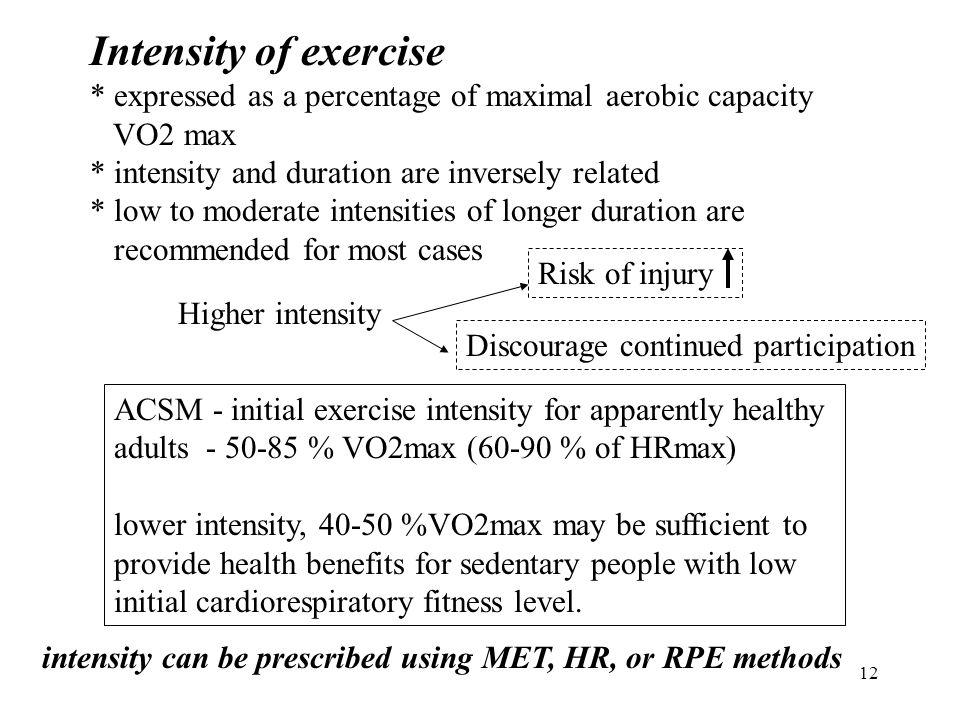 designing cardiorespiratory exercise program ppt download rh slideplayer com ACSM Strength Speed Agility ACSM CVD Risk Factors Table
