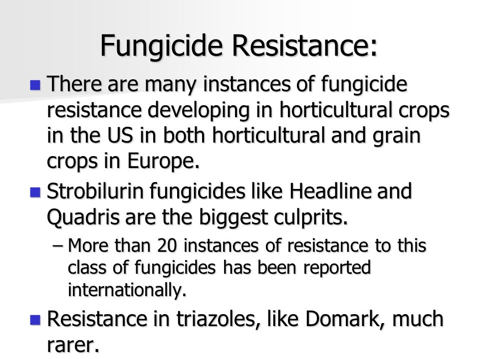 Fungicide Resistance in Field Crops - ppt video online download