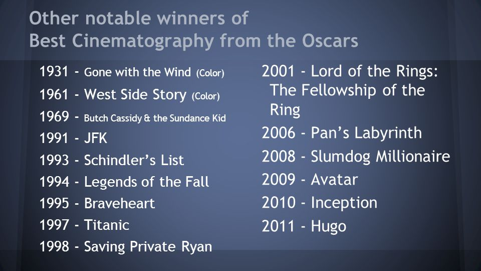 cinematography examples