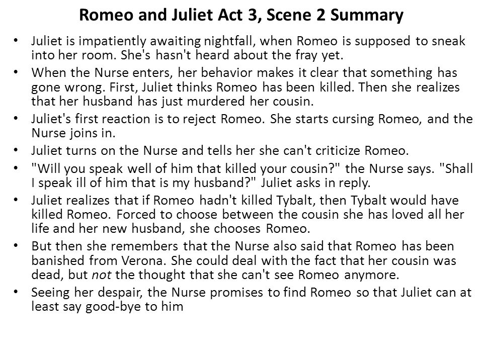 romeo and juliet act 3 scene 2 summary