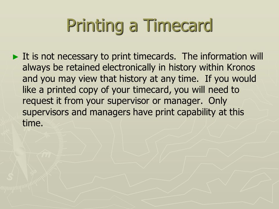 Welcome to kronos employee training entering time in kronos ppt 20 printing publicscrutiny Gallery