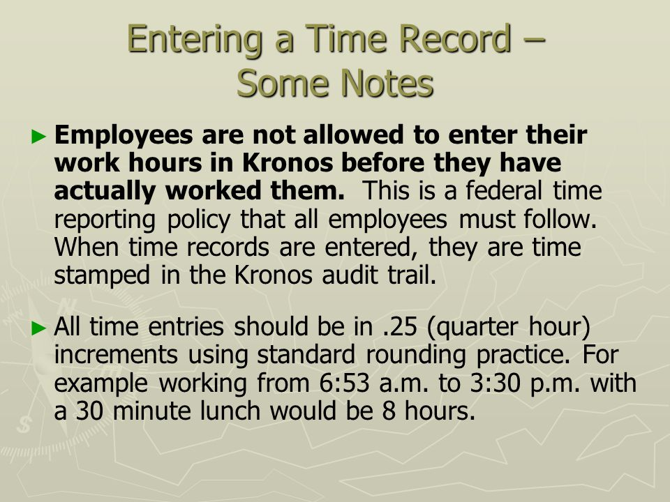 Welcome to kronos employee training entering time in kronos ppt 8 entering publicscrutiny Gallery