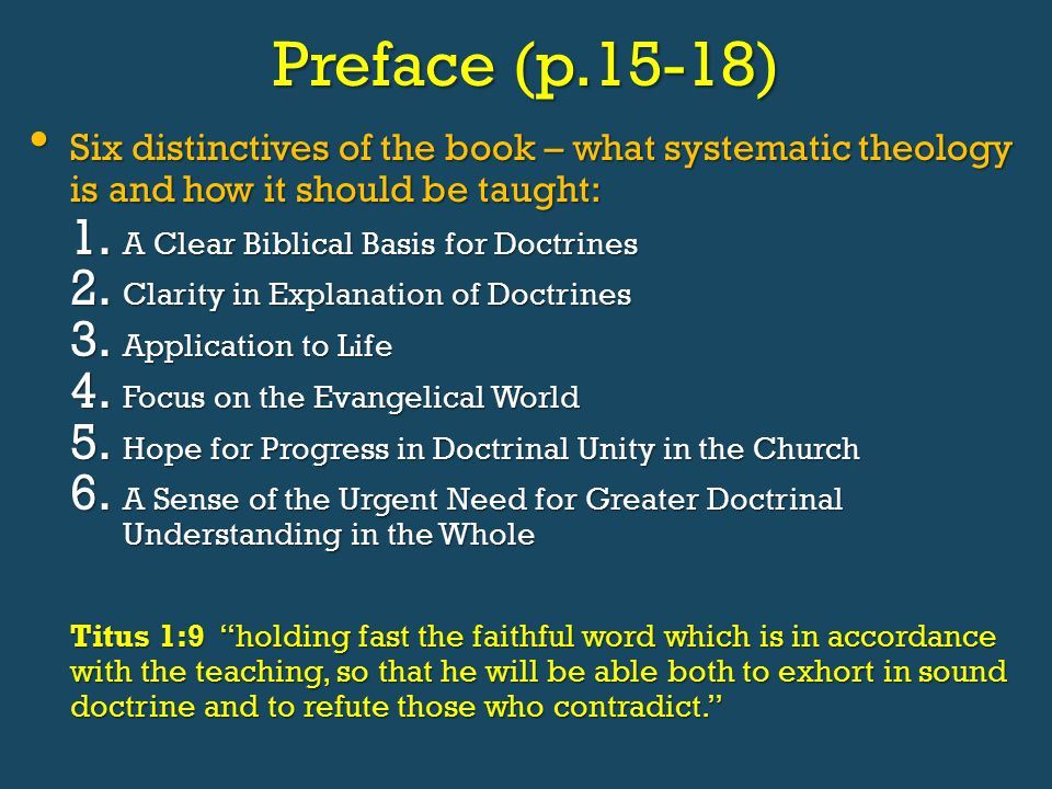 An Introduction To Biblical Doctrine By Wayne Grudem Ppt