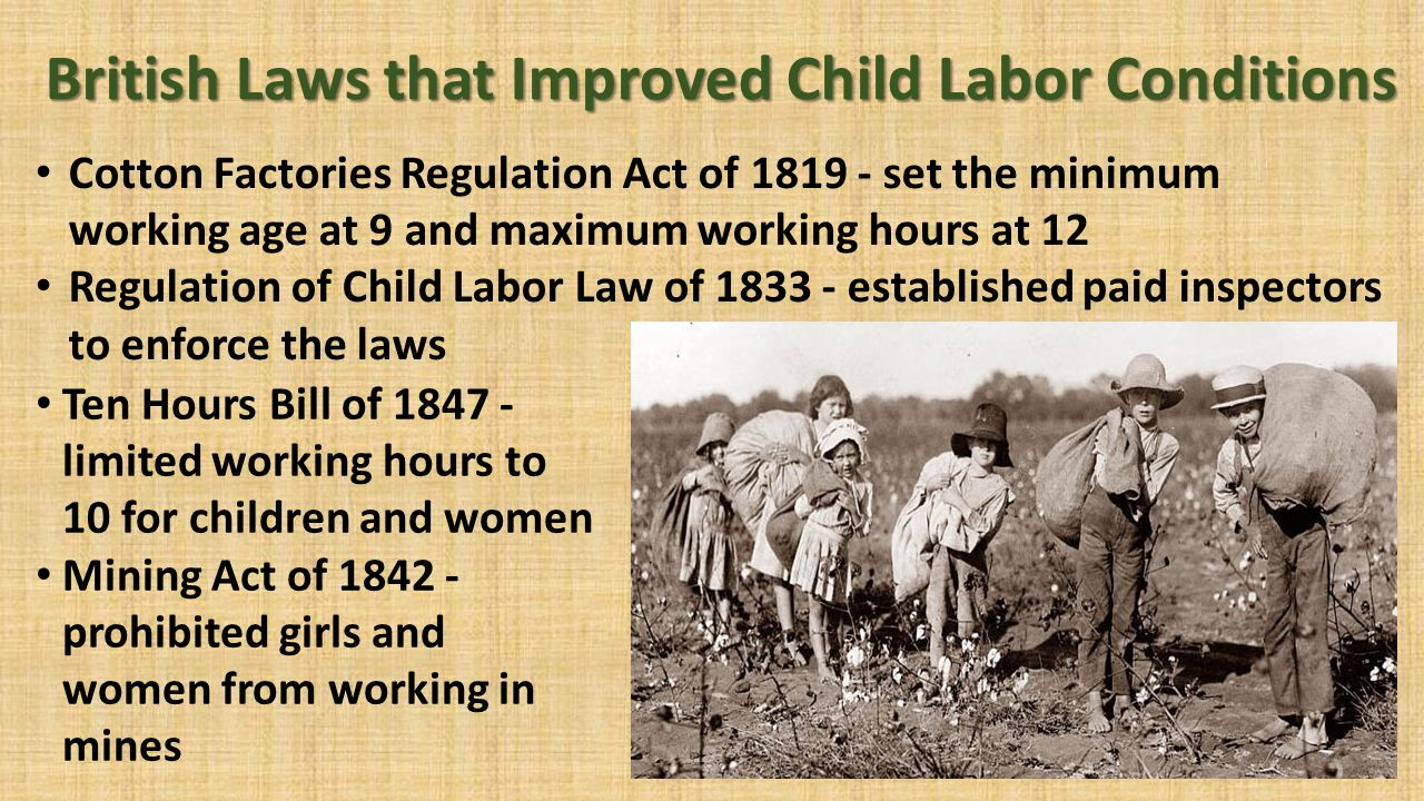 the changes of labor standards during the industrial revolution The industrial machines employed during the industrial revolution were new the owners of the industries did not have to pick the experienced adult labor since the strength was not needed to operate the machine that's why child labor was considered as the first choice for workers in the.
