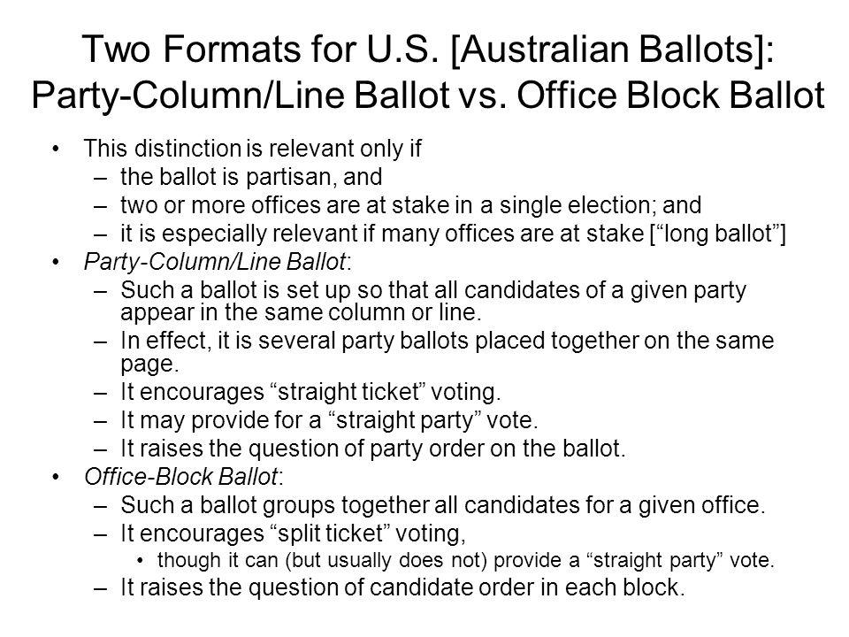 what was the australian ballot