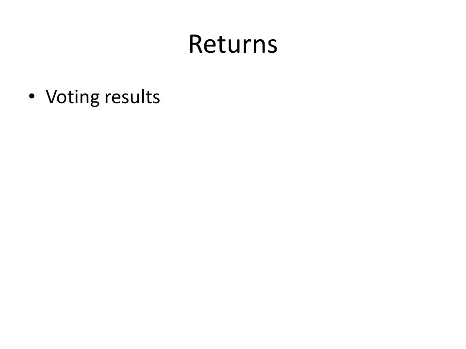 Returns Voting results