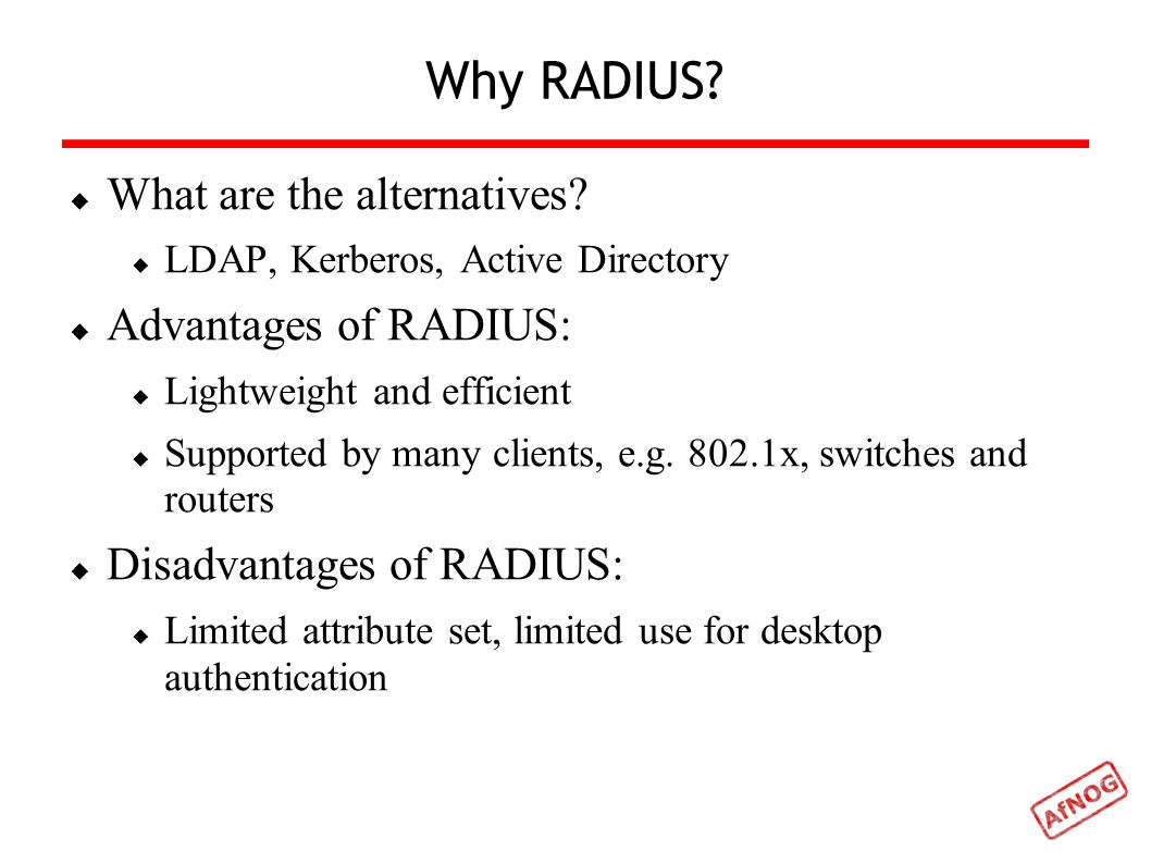RADIUS and FreeRADIUS Frank Kuse