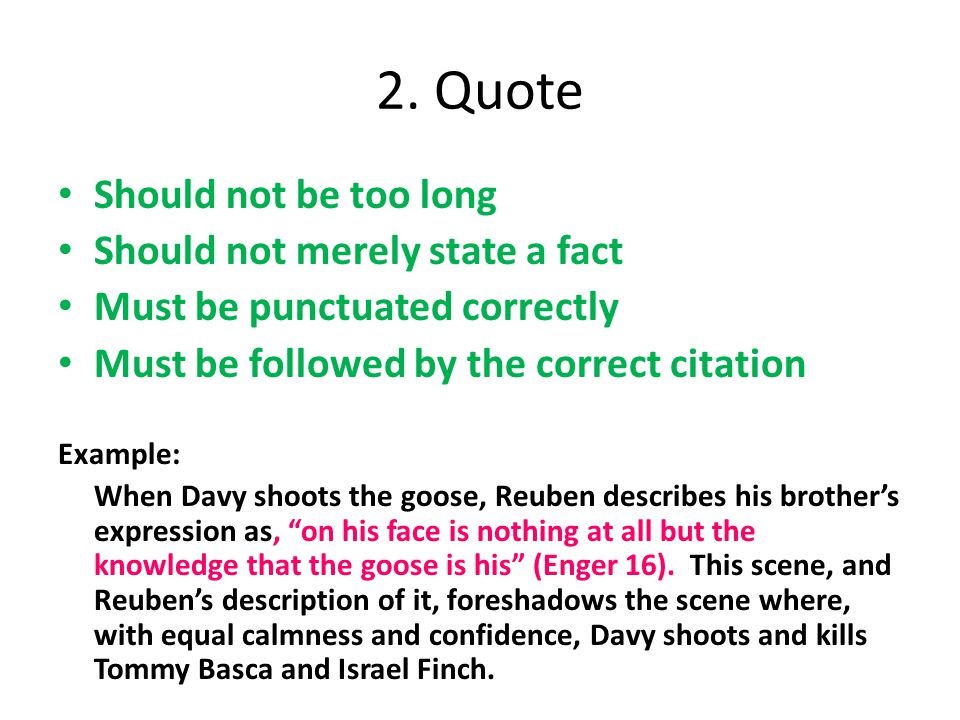 How To Make A Quote Sandwich Ppt Video Online Download