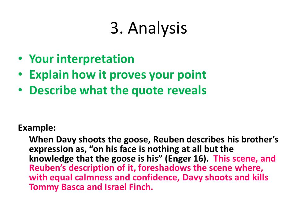 describe a scene example