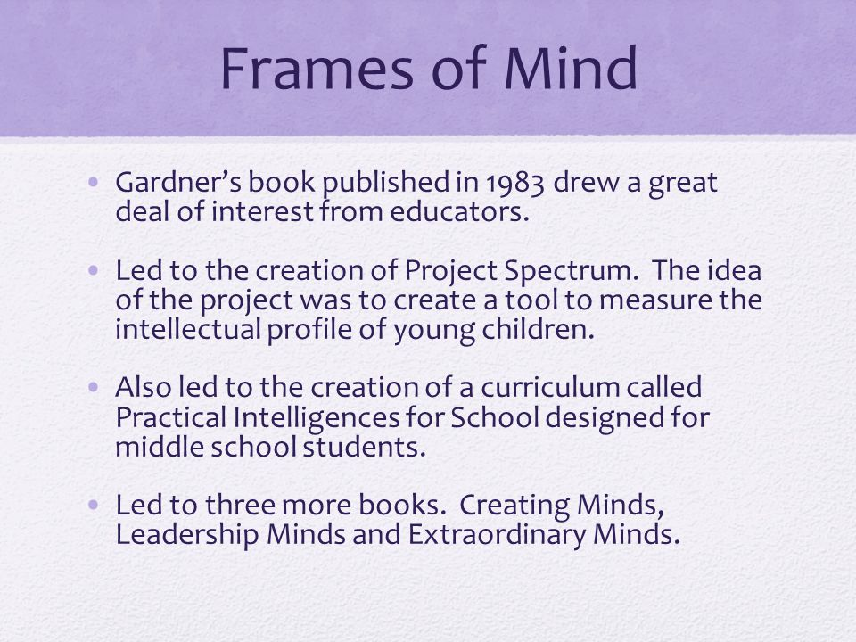 Howard Gardner and the Theory of Multiple Intelligences - ppt video ...