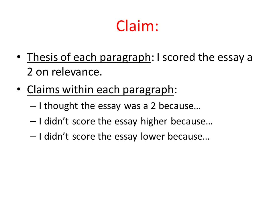 Phd Help Writing  Claim  Computer Science Essays also Healthy Eating Essays Claim Evidence Warrant  Ppt Video Online Download How To Write An Essay With A Thesis