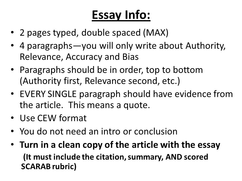 essay info