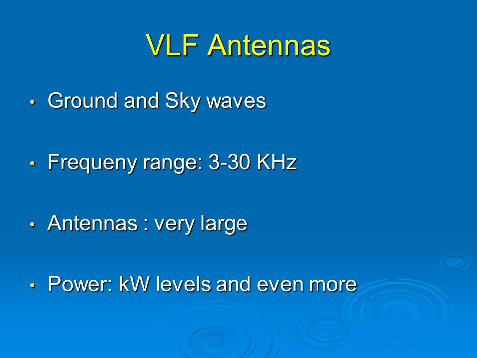 VLF LF MF and HF ANTENNAS