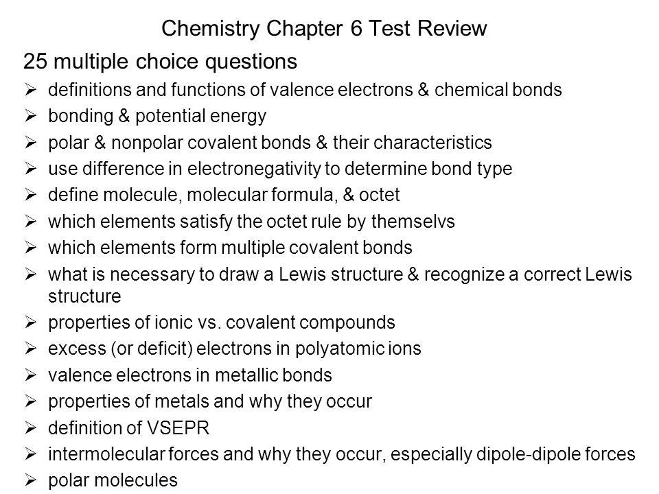 Modern Chemistry Chapter 6 Chemical Bonding Ppt Video