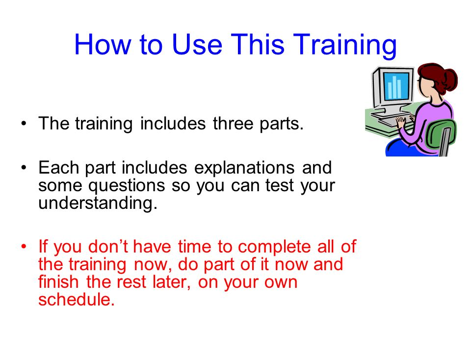 How to Use This Training