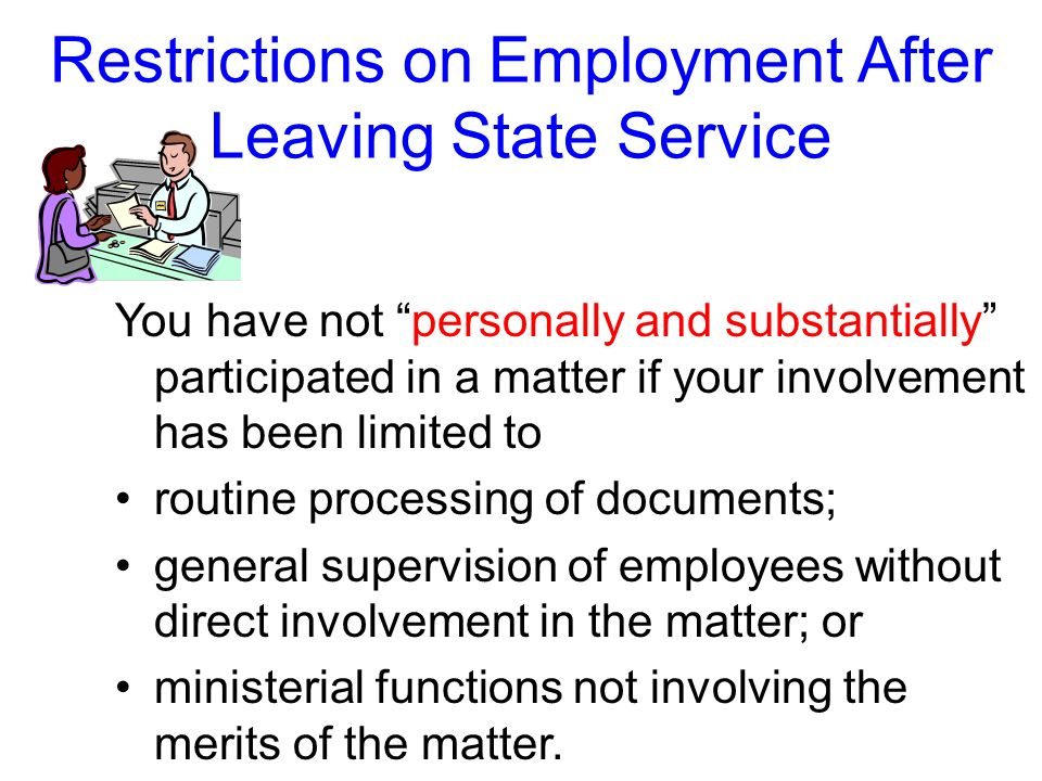 Restrictions on Employment After Leaving State Service