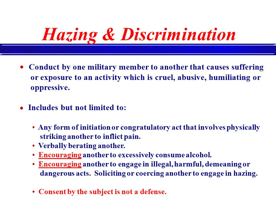 Hazing powerpoint.