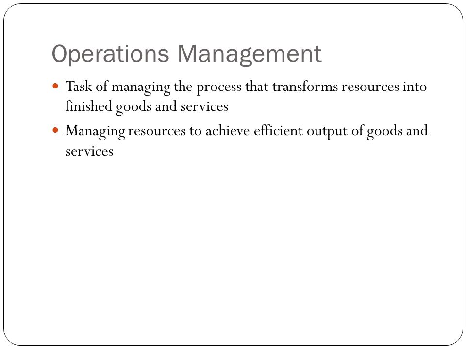 importance of operations management pdf
