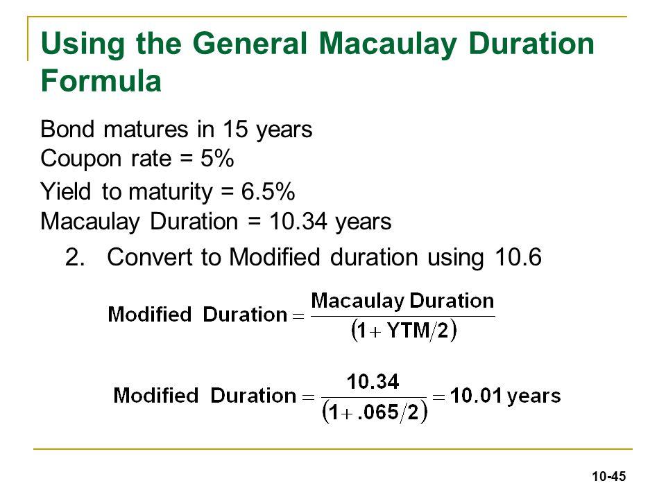 Fixed income interpretation of macaulay duration quantitative.