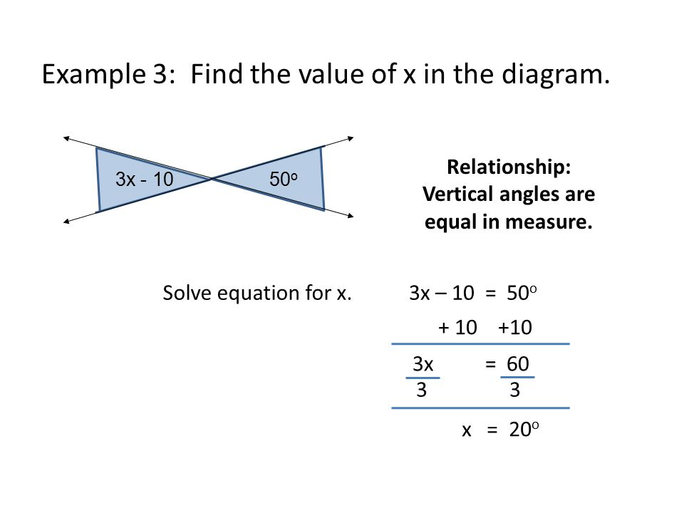 Using angle relationships ppt video online download 4 relationship vertical angles are equal ccuart Choice Image