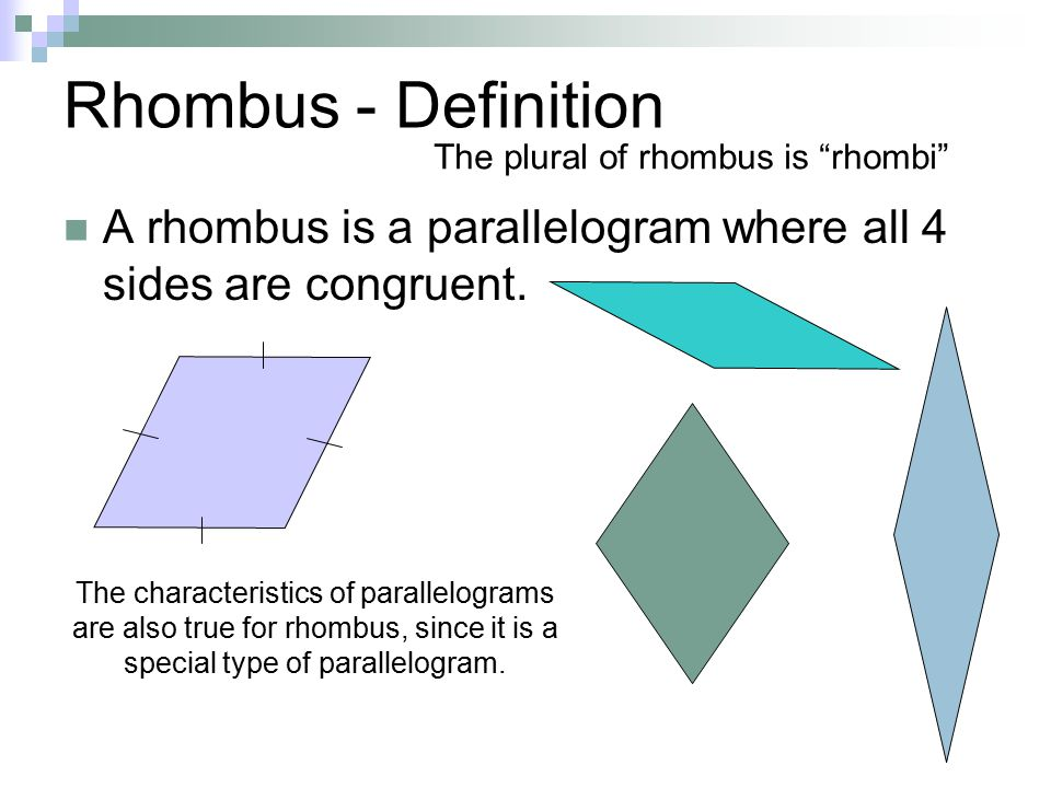 Rhombus and Square  - ppt video online download
