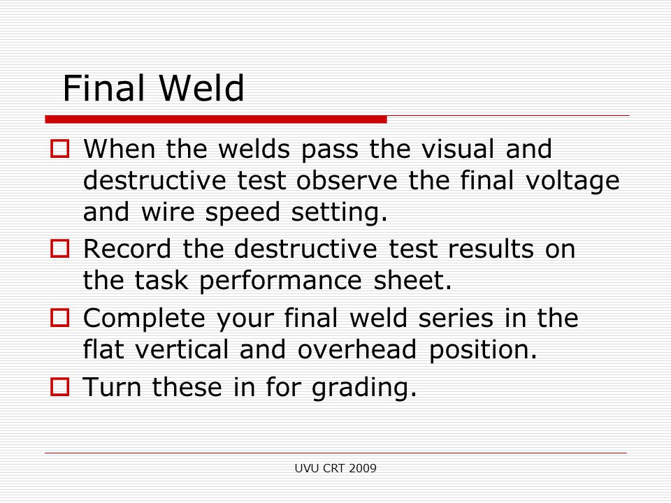 Weld Types – Butt Joint with Backing - ppt video online download