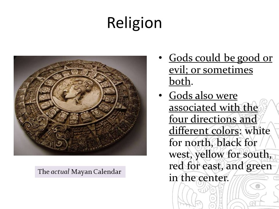 Religion Gods could be good or evil; or sometimes both.