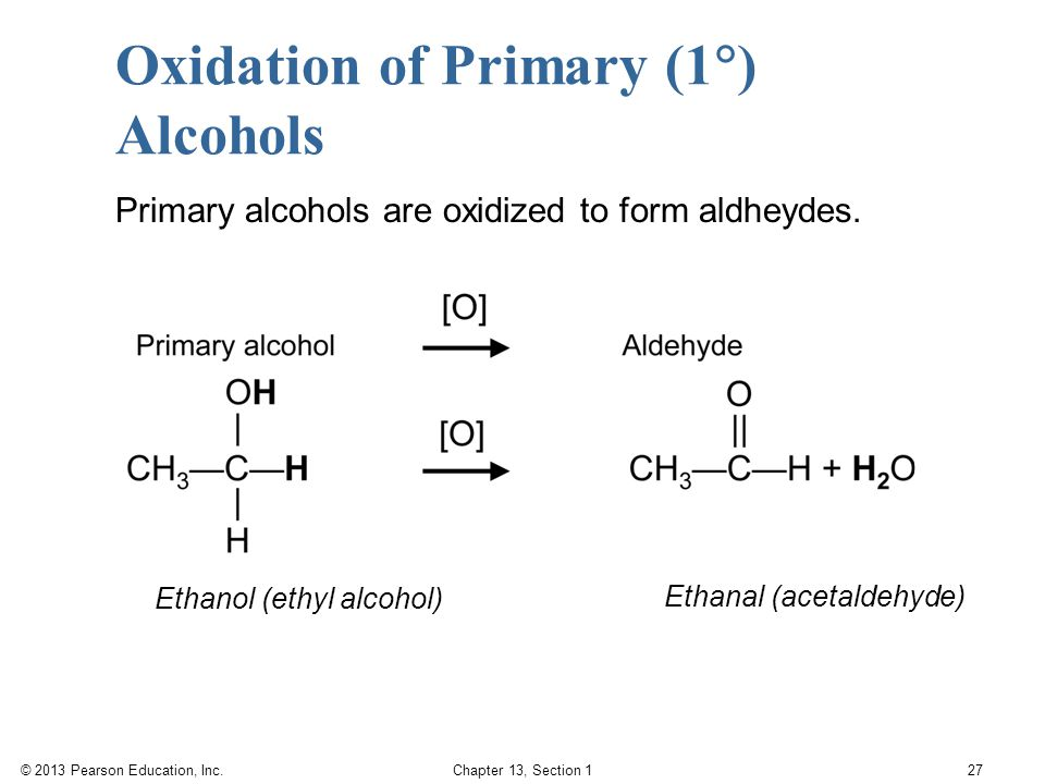 Oxidation of Primary (1) Alcohols