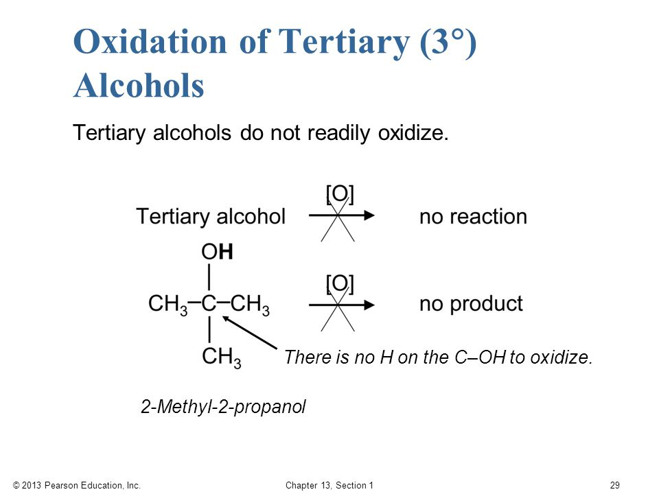 Oxidation of Tertiary (3) Alcohols