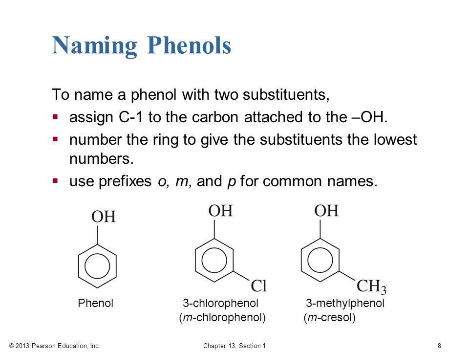 Naming Phenols To name a phenol with two substituents,