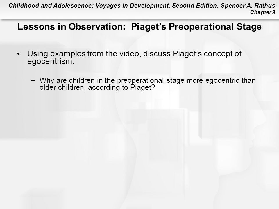 at what age is the preoperational stage according to piaget