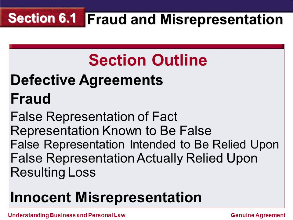 difference between fraud and misrepresentation