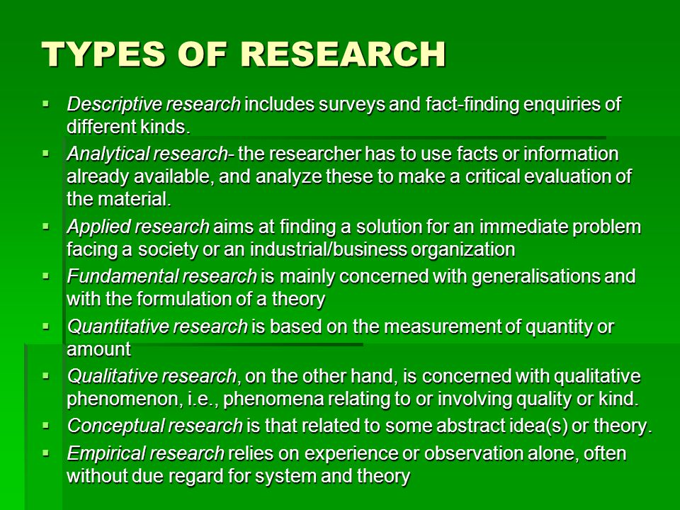 what is research methodology and its various types