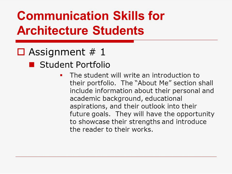 Communication Skills for Architecture Students - ppt download