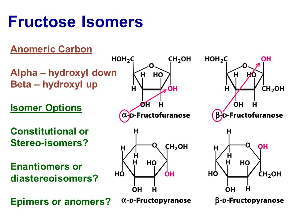 anomeric carbon of d glucose and fructose relationship