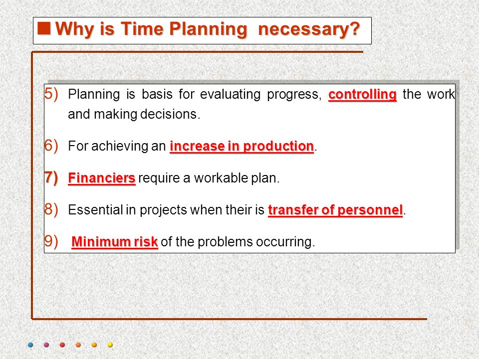 project time planning process and bar chart technique ppt download