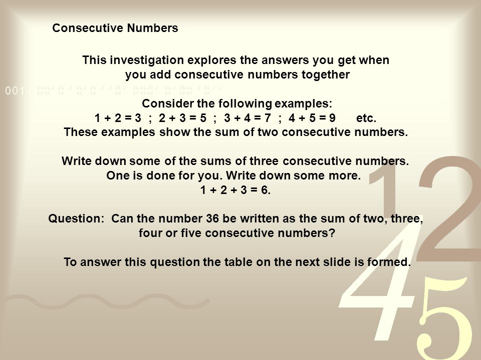 Example 8 find all pairs of consecutive odd natural numbers.
