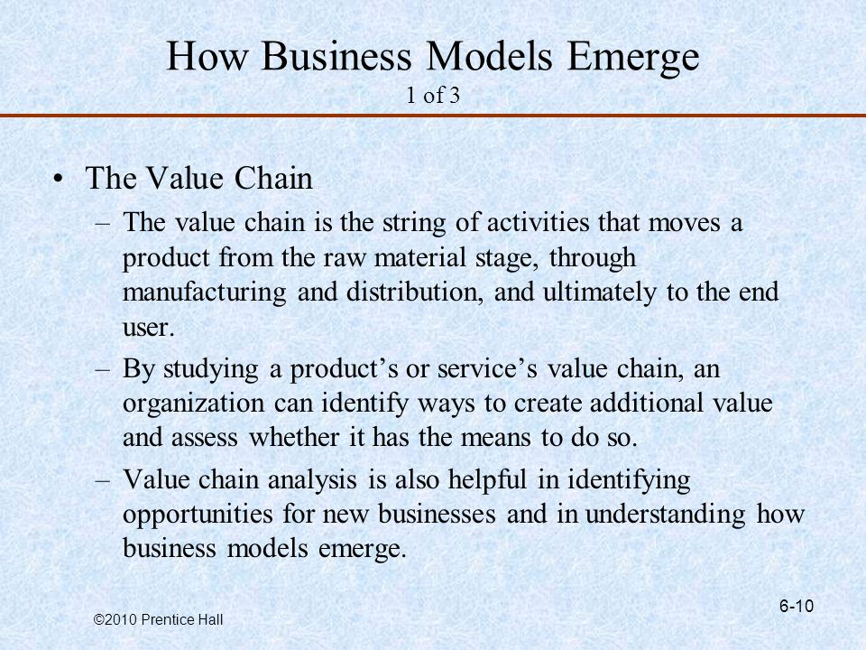 How Business Models Emerge 1 of 3