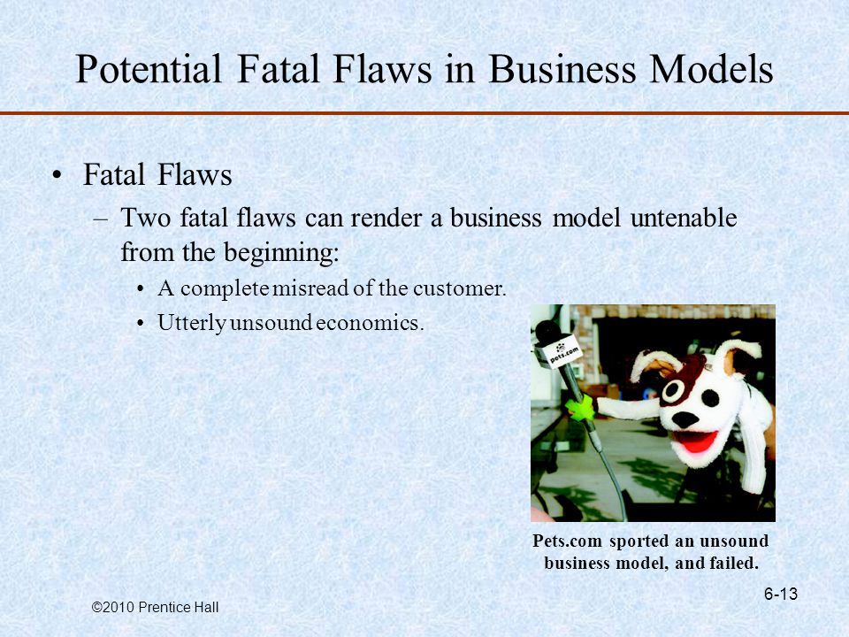 Potential Fatal Flaws in Business Models