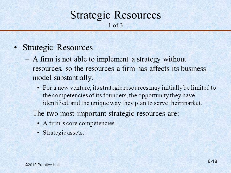 Strategic Resources 1 of 3