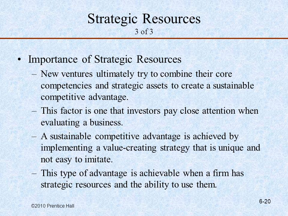 Strategic Resources 3 of 3