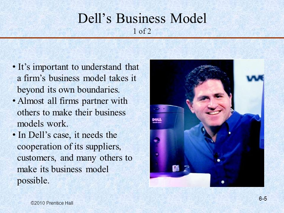 Dell's Business Model 1 of 2