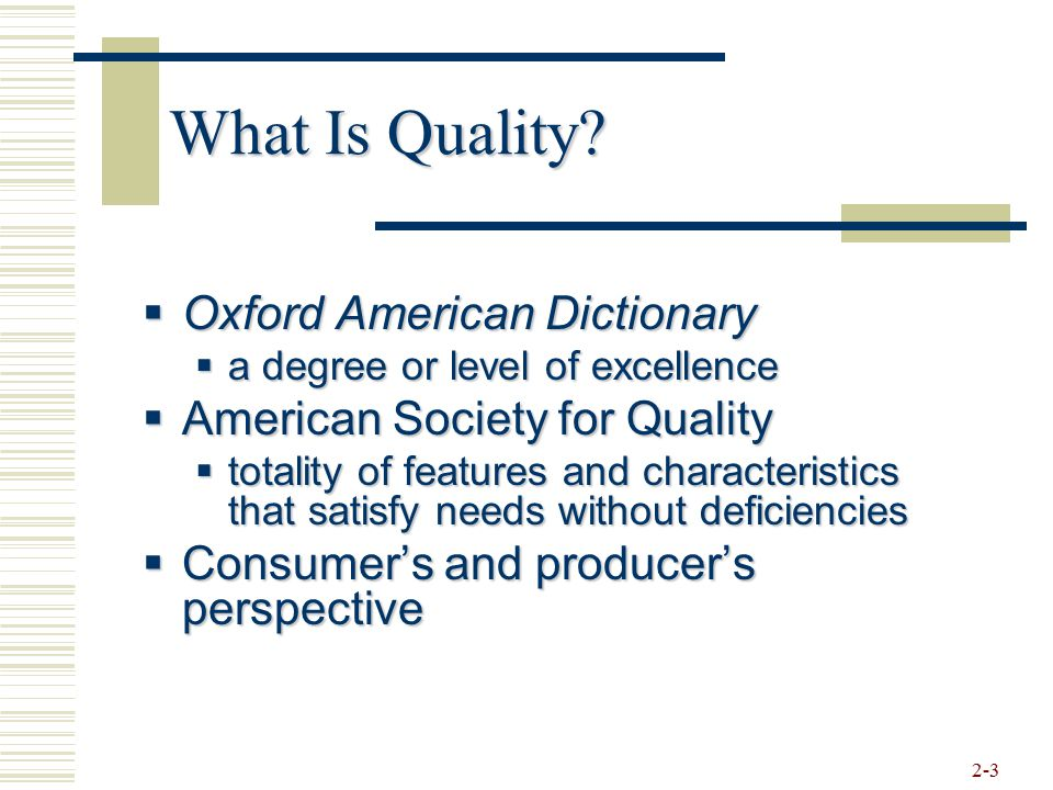 What Is Quality Oxford American Dictionary