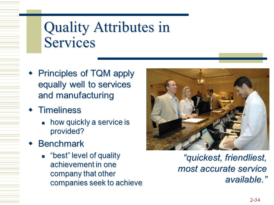 Quality Attributes in Services